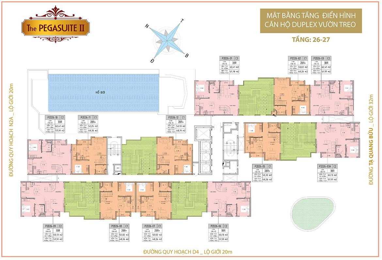 Mặt bằng dự án căn hộ chung cư The PegaSuite II Đường Tạ Quang Bửu Quận 8