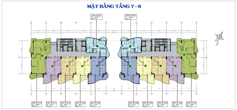 Mặt bằng dự án căn hộ condotel Aria Vũng Tàu chủ đầu tư Cotecland