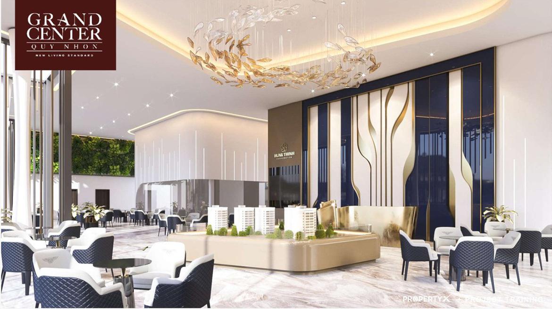 Nhà mẫu dự án căn hộ chung cư Grand Center Quy Nhơn Đường Nguyễn Tất Thành chủ đầu tư Hưng Thịnh