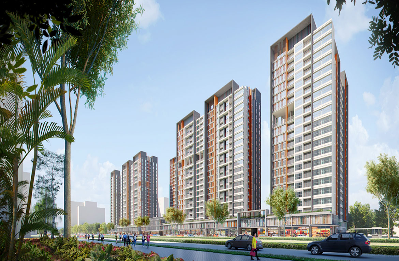 Phối cảnh dự án căn hộ chung cư Celesta Rise Nhà Bè Đường Nguyễn Hữu Thọ chủ đầu tư Keppel Land