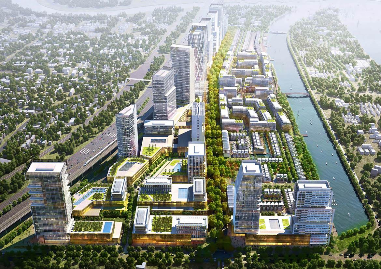 Phối cảnh dự án căn hộ chung cư River City Thu Duc Đường Xa Lộ Hà Nội chủ đầu tư Refico