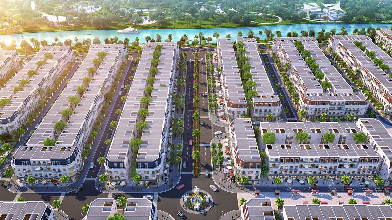 Phối cảnh dự án đất nền nhà phố VietUc Varea Đường Vành Đai 4 Bến Lức Long An