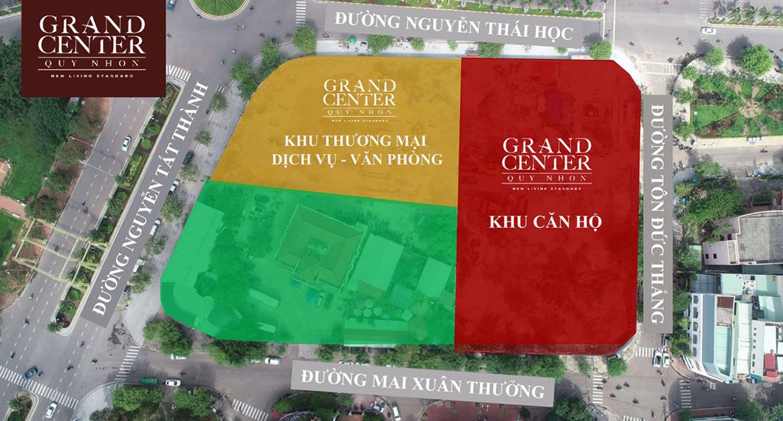 Vị trí địa chỉ dự án căn hộ chung cư Grand Center Quy Nhơn Đường Nguyễn Tất Thành chủ đầu tư Hưng Thịnh
