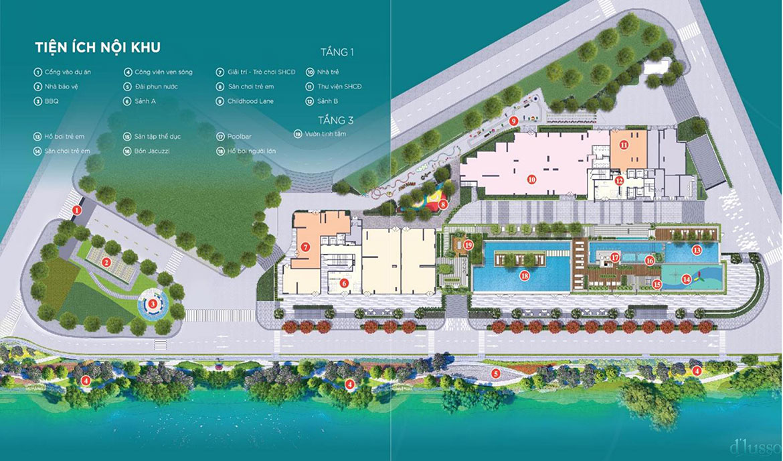 Tiện ích dự án căn hộ chung cư D'lusso Quận 2 Đường Nguyễn Thị Định