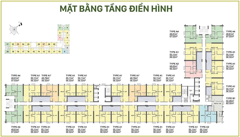 Mặt bằng tầng điển hình dự án căn hộ chung cư CitiGrand Quận 2 Đường KĐT Cát Lái chủ đầu tư Kiến Á