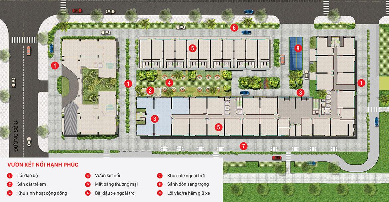 Mặt bằng tiện ích dự án căn hộ chung cư Citi Grand Quận 2 Đường KĐT Cát Lái chủ đầu tư Kiến Á