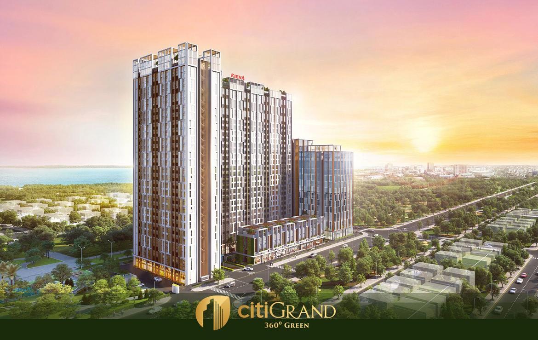Phối cảnh dự án căn hộ chung cư Citi Grand Quận 2 Đường KĐT Cát Lái chủ đầu tư Kiến Á