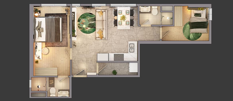 Thiết kế dự án căn hộ chung cư Citi Grand Quận 2 Đường KĐT Cát Lái chủ đầu tư Kiến Á