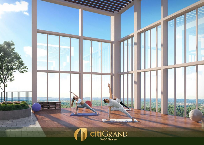 Khu vực Yoga trên tầng mái dự án căn hộ chung cư Citi Grand Quận 2 Đường KĐT Cát Lái chủ đầu tư Kiến Á