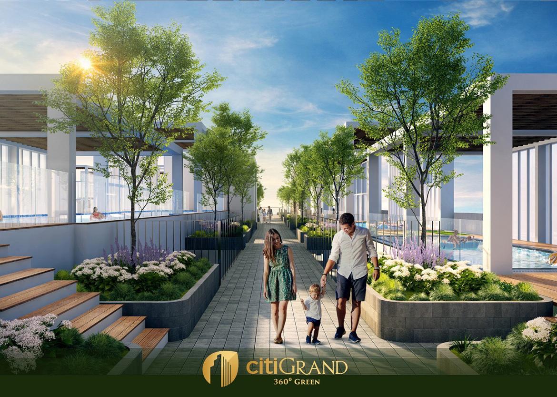 Tiện ích khu vận động ngoài trời trên tầng mái dự án căn hộ chung cư Citi Grand Quận 2 Đường KĐT Cát Lái chủ đầu tư Kiến Á