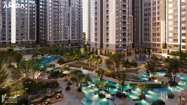 Tiện ích công viên nội khu hơn 1,9ha dự án căn hộ chung cư West Gate Bình Chánh chủ đầu tư An Gia