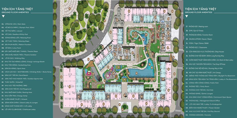 Mặt bằng thiết kế tiện ích dự án căn hộ chung cư West Gate Bình Chánh chủ đầu tư An Gia