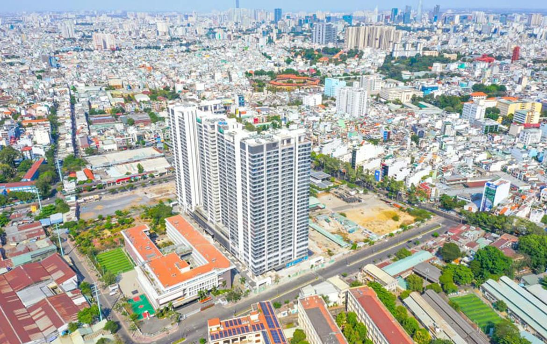 Hình ảnh thực tế dự án căn hộ chung cư Kingdom 101 Quận 10 Đường Tô Hiến Thành chủ đầu tư Hoa Lâm