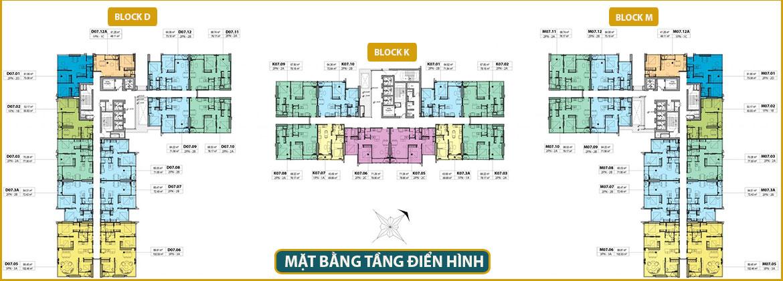 Mặt bằng dự án căn hộ chung cư Kingdom 101 Quận 10 Đường Tô Hiến Thành chủ đầu tư Hoa Lâm