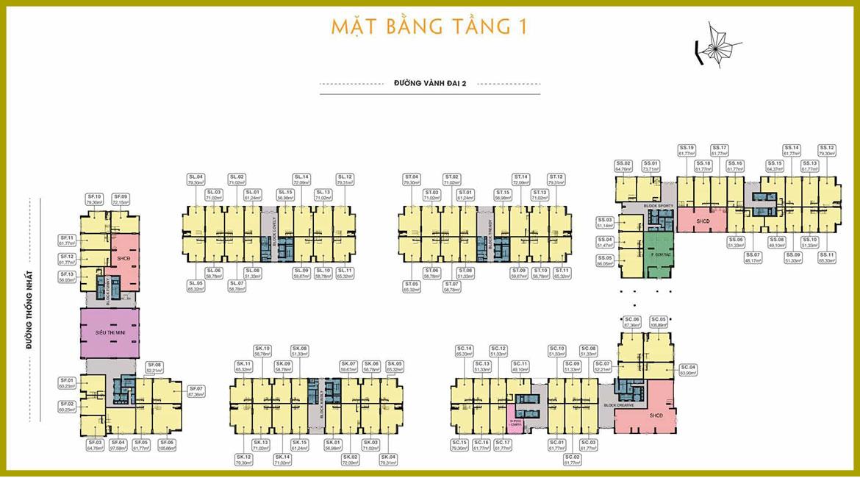Mặt bằng dự án căn hộ chung cư 9x Next Gen Dĩ An Bình Dương Đường Thống Nhất chủ đầu tư Hưng Thịnh