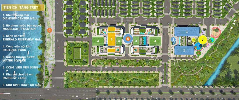 Mặt bằng dự án căn hộ chung cư Dream Home Riverside Quận 8 Đường Nguyễn Văn Linh