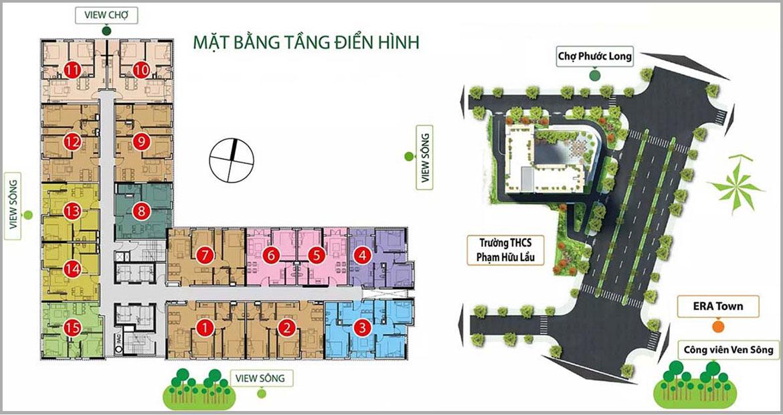 Mặt bằng dự án căn hộ chung cư Viva Plaza đường Nguyễn Lương Bằng quận 7