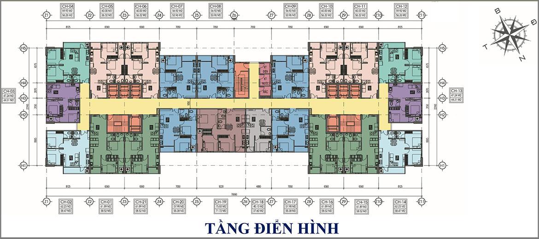 Mặt bằng thiết kế dự án căn hộ chung cư Tecco Home An Phú Bình Dương
