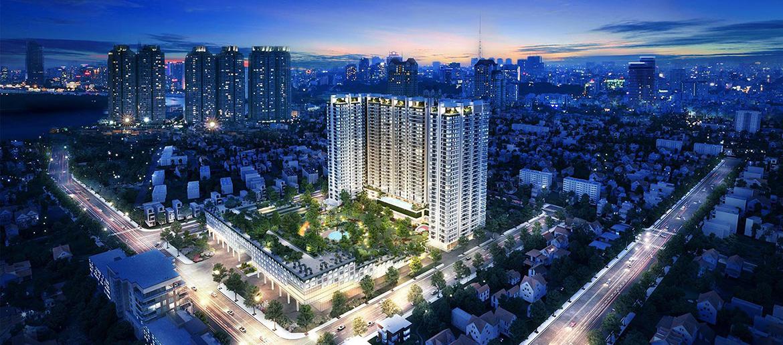 Phối cảnh tổng thể dự án căn hộ chung cư Kingdom 101 Quận 10 Đường Tô Hiến Thành chủ đầu tư Hoa Lâm