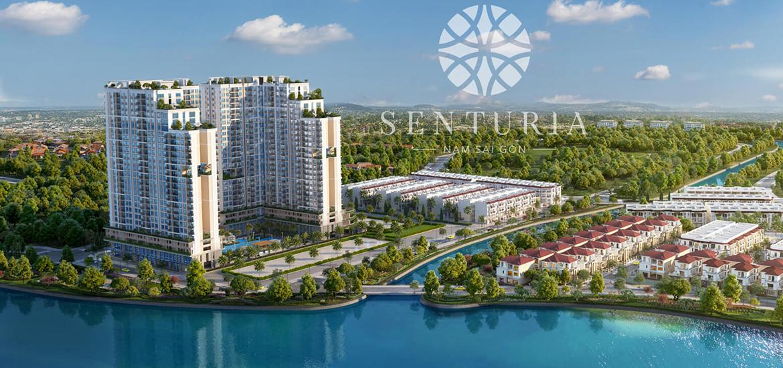 Phối cảnh dự án căn hộ chung cư Senturia Nam Sài Gòn Bình Chánh Đường Nguyễn Văn Linh chủ đầu tư Tiến Phước