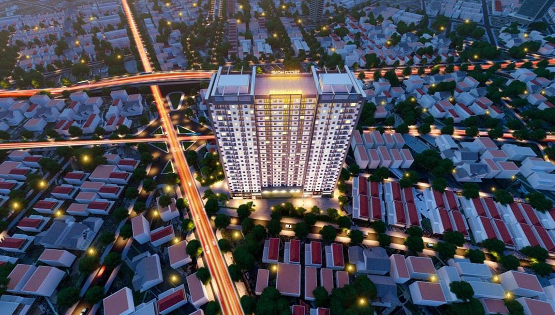 Phối cảnh đêm dự án căn hộ chung cư Tecco Home An Phú Bình Dương