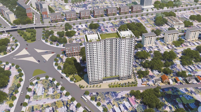 Phối cảnh dự án căn hộ chung cư Tecco Home An Phú Bình Dương