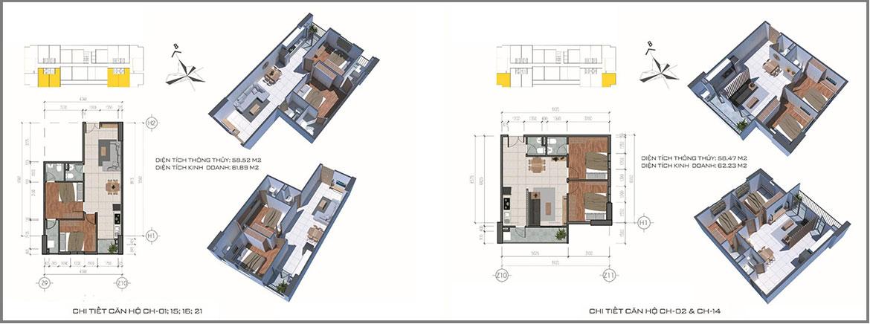 Thiết kế dự án căn hộ chung cư Tecco Home An Phú Bình Dương