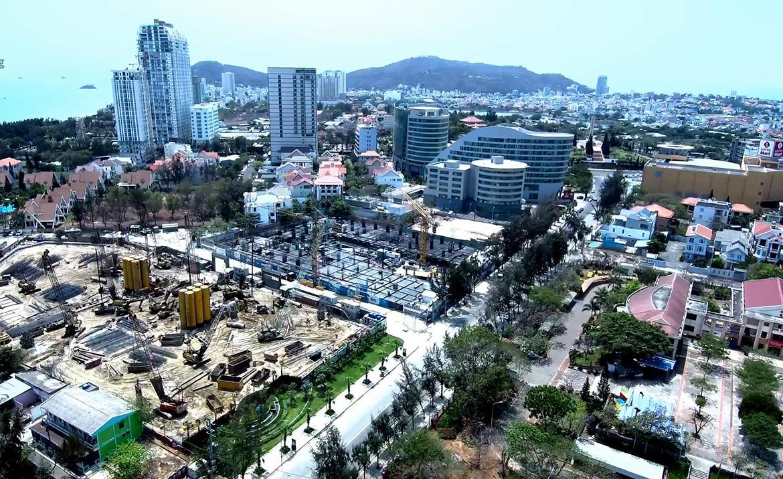 Tiến độ dự án căn hộ condotel The Sóng Vũng Tàu Đường Thi Sách chủ đầu tư An Gia tháng 3.2020
