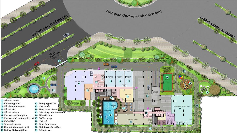 Tiện ích dự án căn hộ chung cư High Intela đường Võ Văn Kiệt Quận 8