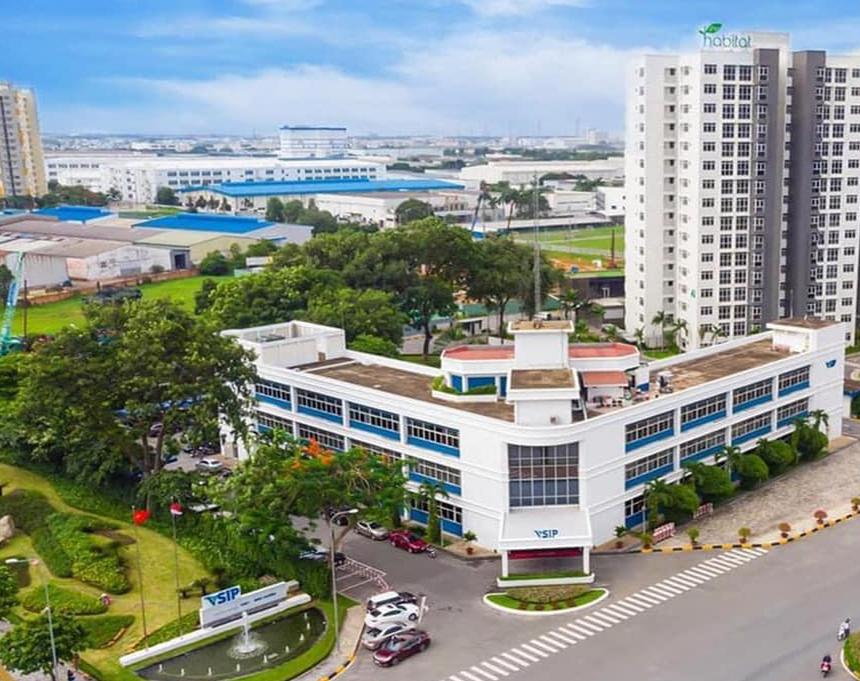 Khu công nghiệp Visip Bình Dương nơi chiếm số lượng lớn chuyên gia nước ngoài đang làm việc