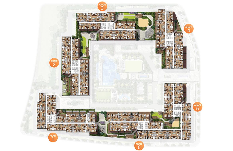 Mặt bằng tổng thể dự án căn hộ chung cư Akari City Quận Bình Tân Đường Võ Văn Kiệt