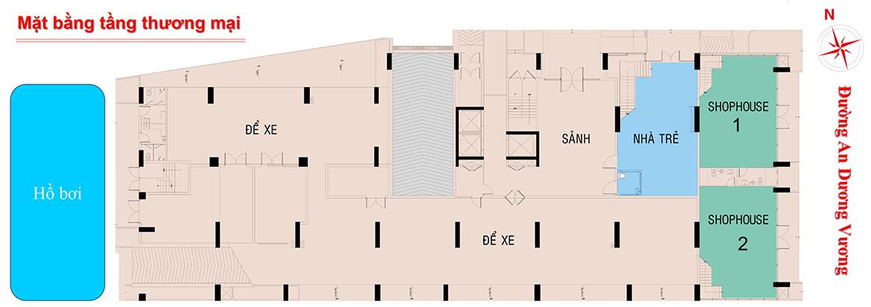 Mặt bằng tầng trệt dự án căn hộ chung cư West Intela đường An Dương Vương Quận 8