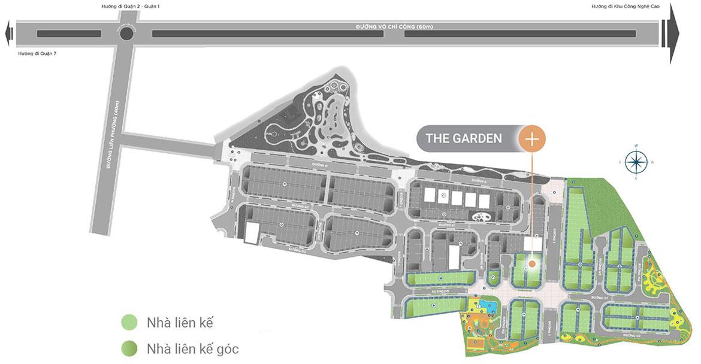 Mặt bằng dự án nhà phố biệt thự Verosa Park Khang Điền Quận 9