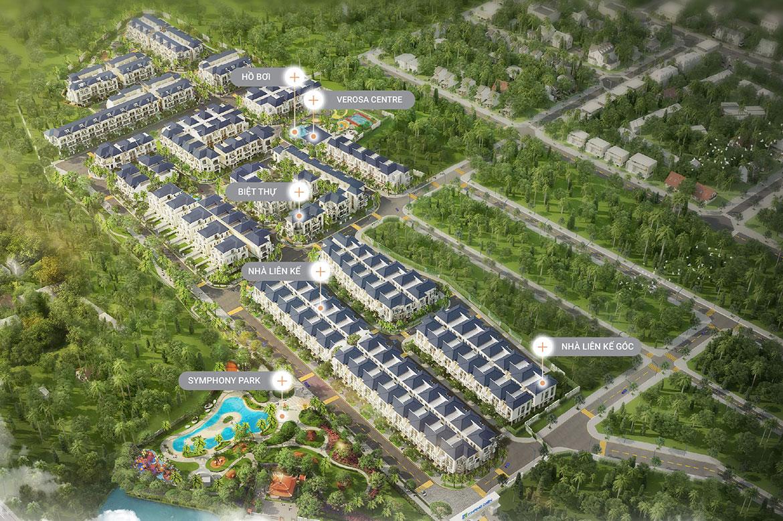 Mặt bằng tổng thể dự án nhà phố biệt thự Verosa Park Khang Điền Quận 9