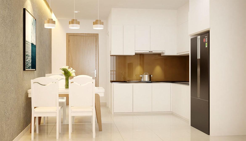 Không gian bếp nhà mẫu dự án căn hộ chung cư West Intela đường An Dương Vương Quận 8
