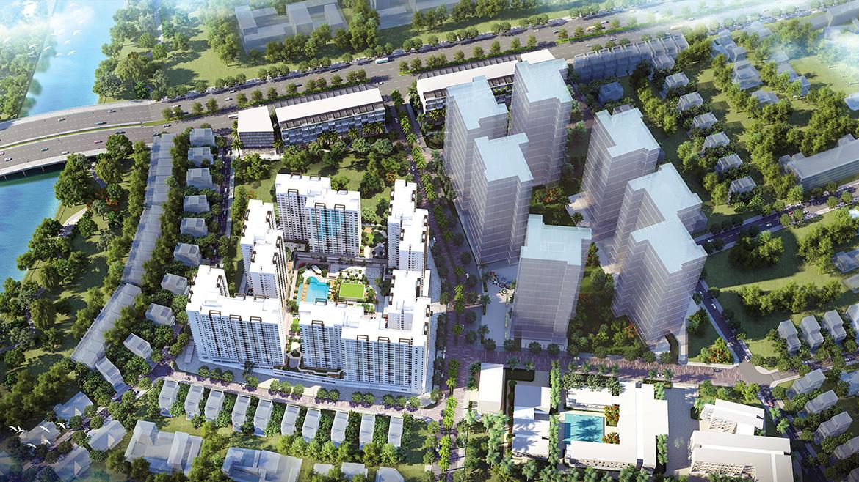 Phối cảnh dự án căn hộ chung cư Akari City Quận Bình Tân Đường Võ Văn Kiệt