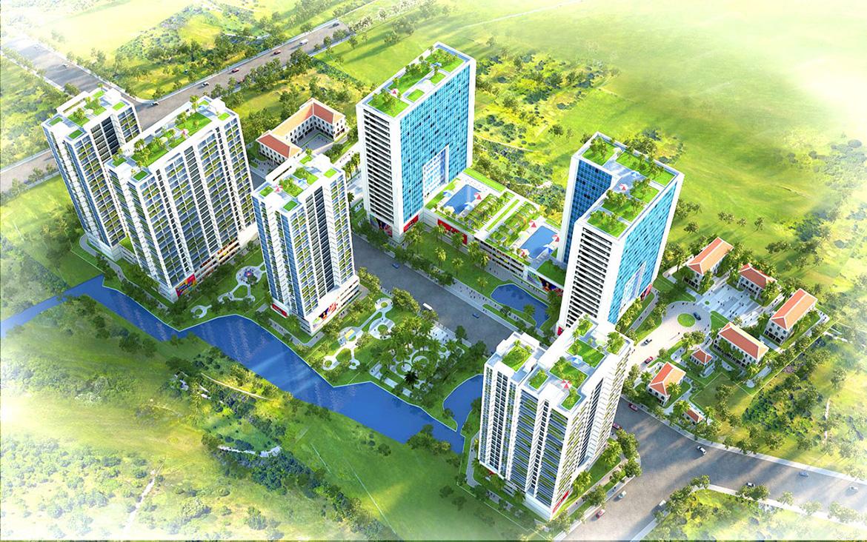 Phối cảnh dự án căn hộ chung cư Babylon Garden đường Đào Trí Quận 7 chủ đầu tư Phú Mỹ Hưng