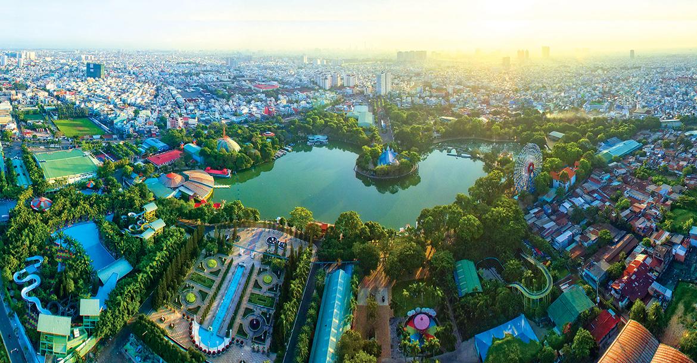 Phối cảnh dự án căn hộ chung cư Diamond Lotus Lake View Quận Tân Phú Đường Lũy Bán Bích