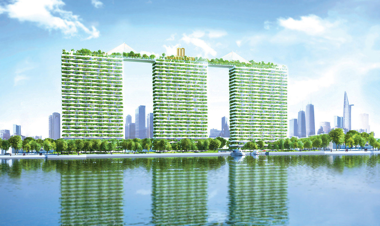 Phối cảnh dự án căn hộ chung cư Diamond Lotus Riverside Quận 8 Đường Lê Quang Kim