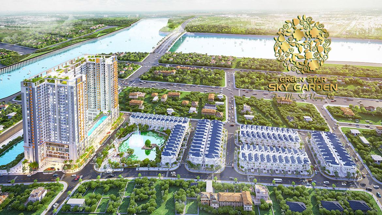 Phối cảnh dự án căn hộ chung cư Green Star Sky Garden đường Nguyễn Lương Bằng Quận 7