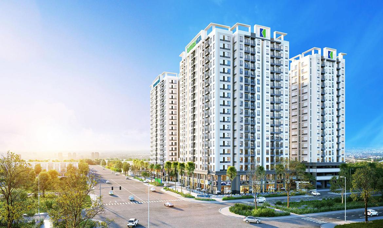 Phối cảnh tổng thể căn hộ chung cư Lovera Vista Bình Chánh Đường Trịnh Quang Nghị chủ đầu tư Khang Điền