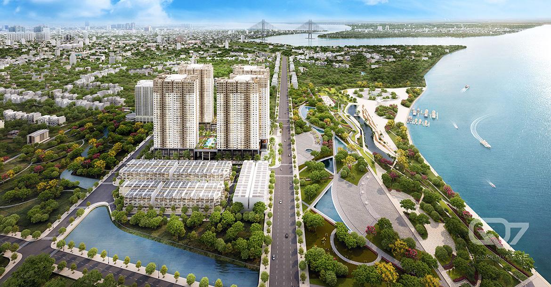 Phối cảnh dự án căn hộ chung cư Q7 Saigon Riverside đường Đào Trí quận 7