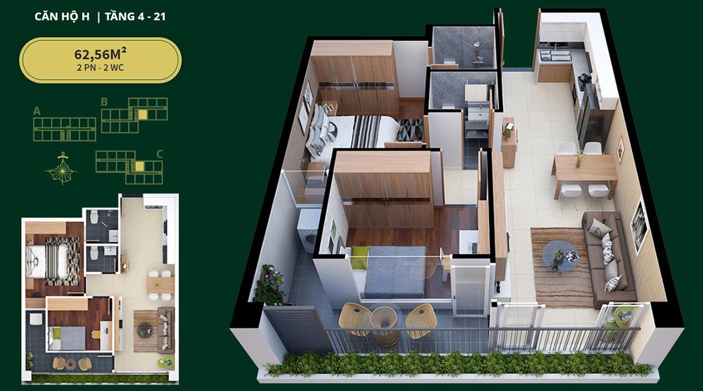 Thiết kế dự án căn hộ chung cư Diamond Lotus Lake View Quận Tân Phú Đường Lũy Bán Bích
