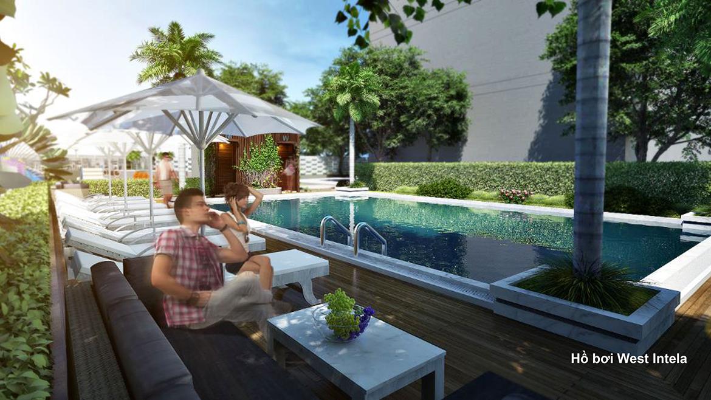Tiện ích hồ bơi dự án căn hộ chung cư West Intela đường An Dương Vương Quận 8