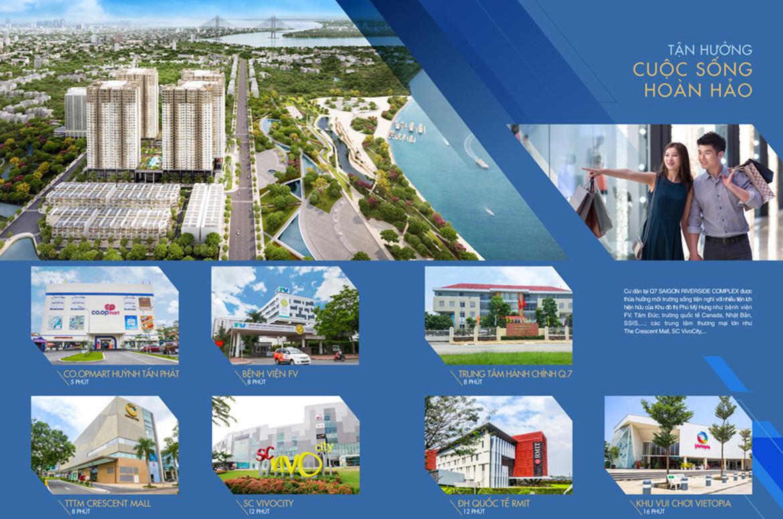 Vị trí địa chỉ dự án căn hộ chung cư Q7 Saigon Riverside đường Đào Trí quận 7