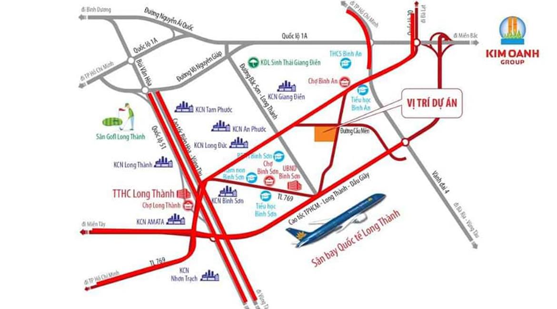 Vị trí địa chỉ dự án Khu Dân Cư Bình Sơn Long Thành Đồng Nai