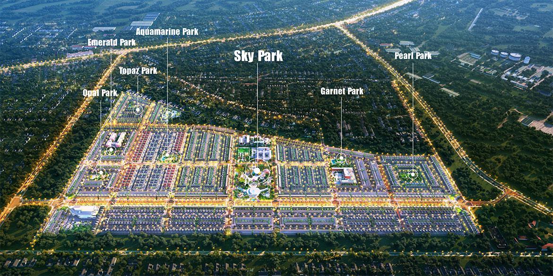 Mặt bằng dự án đất nền nhà phố biệt thự Gem Sky World Long Thành Đồng Nai