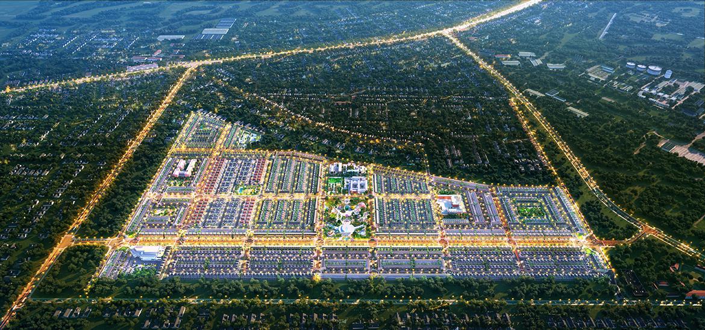 Phối cảnh tổng thể dự án nhà phố đất nền Gem Sky World Đất Xanh Long Thành Đồng Nai