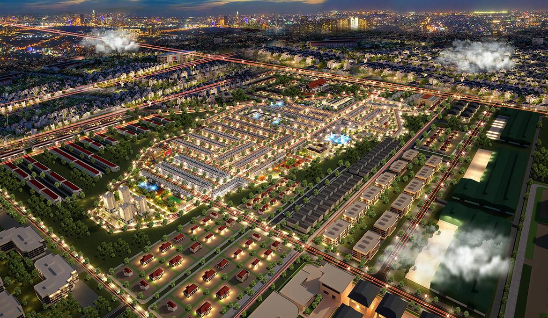 Phối cảnh đất nền nhà phố biệt thự PNR Estella Long Thành Đồng Nai