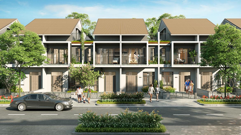 Thiết kế mẫu nhà phố liên kế 1 mái dự án Gem Sky World Đất Xanh Long Thành
